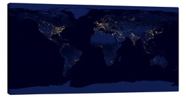 Canvastavla  Earth at night - NASA