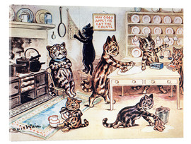 Akrylglastavla  The Picture Book of Kittens 13 - Louis Wain