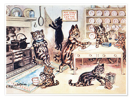 Premiumposter  The Picture Book of Kittens 13 - Louis Wain