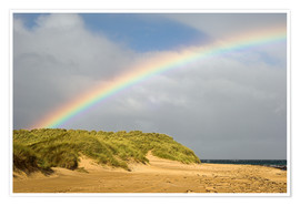 Premiumposter  Rainbow over sand dunes - Duncan Shaw