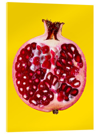 Akrylglastavla  Halved pomegranate - Mark Sykes