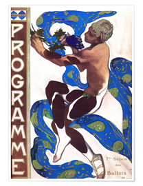 Premiumposter  Afternoon of a Faun - Leon Nikolajewitsch Bakst