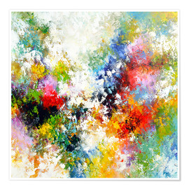 Poster  Abstract star - Theheartofart Gena