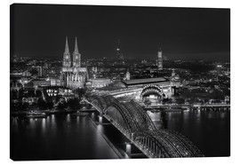 Canvastavla  Cologne black and white - rclassen