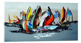Akrylglastavla  Abstract sailing - Theheartofart Gena