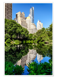 Premiumposter  New York City - Central Park South (The Pond) - Sascha Kilmer