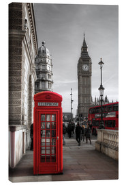 Canvastavla  Telefonkiosk och Big Ben i London - Filtergrafia