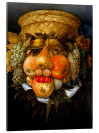 Akrylglastavla  Portrait of a man from fruits - Giuseppe Arcimboldo