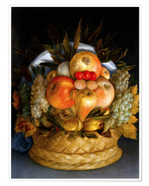 Premiumposter  Portrait of a man from fruits - Giuseppe Arcimboldo