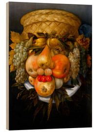 Trätavla  Portrait of a man from fruits - Giuseppe Arcimboldo