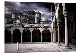Akrylglastavla  Lady and the mosque - Daniel Murphy