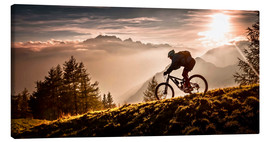 Canvastavla  Golden hour biking - Sandi Bertoncelj