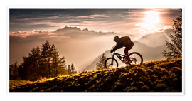Premiumposter  Golden hour biking - Sandi Bertoncelj