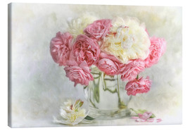 Canvastavla  roses and peonies - Lizzy Pe
