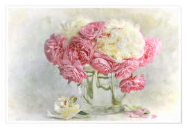 Poster  roses and peonies - Lizzy Pe