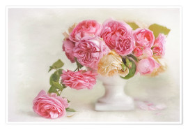 Premiumposter  pink roses - Lizzy Pe