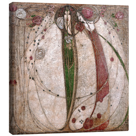 Canvastavla  The White Rose And The Red Rose - Margaret MacDonald Mackintosh