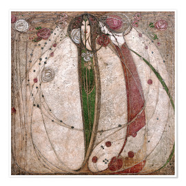 Premiumposter  The White Rose And The Red Rose - Margaret MacDonald Mackintosh