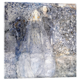 Akrylglastavla  Silver Apples - Margaret MacDonald Mackintosh