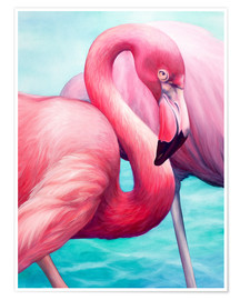 Premiumposter  Flamingo - Renate Berghaus