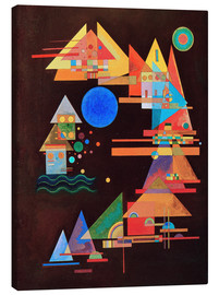 Canvastavla  Peaks in the bow - Wassily Kandinsky