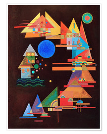 Premiumposter  Peaks in the bow - Wassily Kandinsky