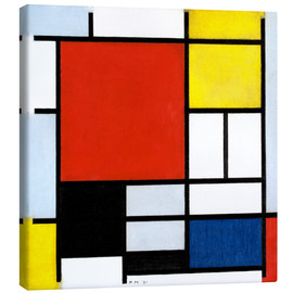 Canvastavla  Composition with red, yellow, blue and black - Piet Mondriaan