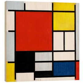 Trätavla  Composition with red, yellow, blue and black - Piet Mondriaan