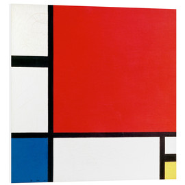 PVC-tavla  Composition with Red, Yellow and Blue - Piet Mondrian
