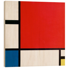 Trätavla  Composition with Red, Yellow and Blue - Piet Mondrian