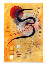 Poster  Temper line - Wassily Kandinsky
