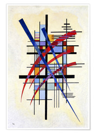 Premiumposter  Accompanied characters - Wassily Kandinsky