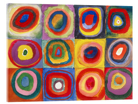 Akrylglastavla  Colour study - squares and concentric rings - Wassily Kandinsky