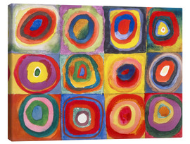 Canvastavla  Colour study - squares and concentric rings - Wassily Kandinsky