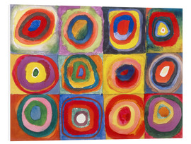 PVC-tavla  Colour study - squares and concentric rings - Wassily Kandinsky