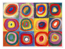 Premiumposter  Colour study - squares and concentric rings - Wassily Kandinsky