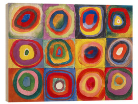 Trätavla  Colour study - squares and concentric rings - Wassily Kandinsky