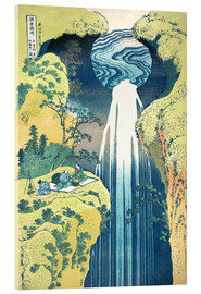 Akrylglastavla  Waterfall of Amida at the Kiso Street - Katsushika Hokusai