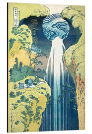 Aluminiumtavla  Waterfall of Amida at the Kiso Street - Katsushika Hokusai