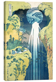 Canvastavla  Waterfall of Amida at the Kiso Street - Katsushika Hokusai