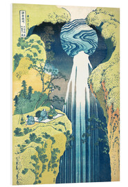 PVC-tavla  Waterfall of Amida at the Kiso Street - Katsushika Hokusai