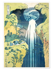 Premiumposter  Waterfall of Amida at the Kiso Street - Katsushika Hokusai