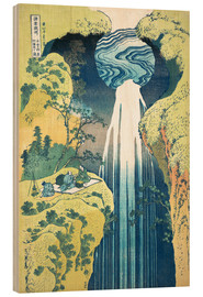 Trätavla  Waterfall of Amida at the Kiso Street - Katsushika Hokusai
