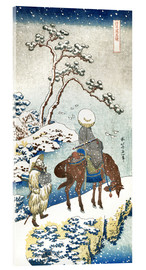 Akrylglastavla  Poet travelling in the snow - Katsushika Hokusai