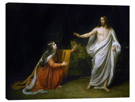 Canvastavla  Christ's Appearance to Mary Magdalene after the Resurrection - Aleksandr Andreevich Ivanov