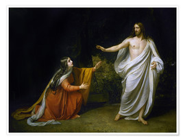 Premiumposter  Christ's Appearance to Mary Magdalene after the Resurrection - Aleksandr Andreevich Ivanov