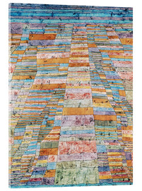 Akrylglastavla  Main path and Byways - Paul Klee
