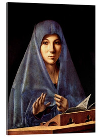 Akrylglastavla  Virgin Annunciate - Antonello da Messina