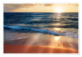 Premiumposter  Waves at Sunset - Lichtspielart