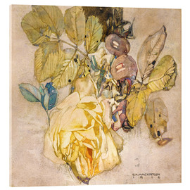 Akrylglastavla  Winter Rose - Charles Rennie Mackintosh